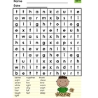 Dolch Words Word Search (set 9)