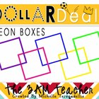 Dollar Deal Clip Art: Bright Neon Box Borders