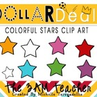 Dollar Deals Clip Art: Colorful Stars