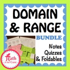Domain &amp; Range of a Graph, Notes &amp; Quiz inequality interva