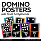Domino Number Cards 0-20 {Black Series}