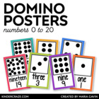 Domino Number Cards 0-20 {White Series}