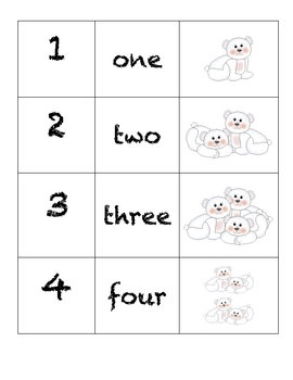 Domino Numbers- Polar Bears
