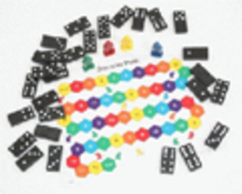 Domino Path Math Game - Grade K