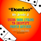 """Domino"" by Jessie J Figurative Language Poetic Devices Activity"