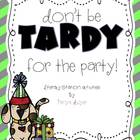 Don't Be Tardy for the Party {Literacy Stations}