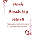 Don&#039;t Break My Heart Valentine Alphabet Game