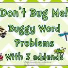 Don&#039;t Bug Me! Buggy Word Problems with 3 Addends
