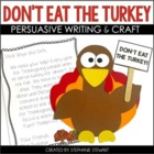 Don&#039;t Eat The Turkey!! {Thanksgiving Persuasive Writing &amp; 