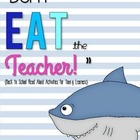 Don't Eat the Teacher! - Back to School Activities
