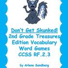 Don't Get Skunked 2nd Grade Treasures Edition: Vocabulary Words