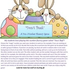 &quot;Don&#039;t Peek&quot; Number Fluency Game for Easter
