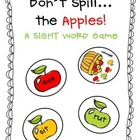 Don't Spill The Apples!  CVC Words Game!  FUNdations Connected!