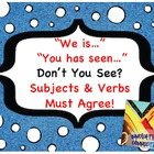 Don&#039;t You See Subjects &amp; Verbs Must Agree? 216 Cards-Sente