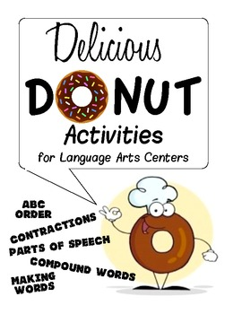 Donut Activities 4 Literacy Centers K-2