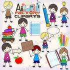 Doodle Back to School Clipart set