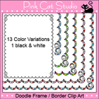 Doodle Frame / Border Clip Art - Personal &amp; Commercial Use