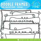 Frames - Doodle Frames - Clipart Graphics Borders for Comm