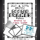 Doodle Sketches Fences Frames Clip Art Graphics for Commer