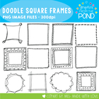 Doodle Square Frames - Graphics From the Pond