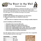 Door in the Wall Novel - Journals, Show and Tell, Test