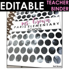 Dot-A-Lot Black and White Polka Dot Teacher Binder with Ed