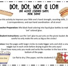 Dot Dot Not a Lot! Fine Motor ARTivity- Picnic Theme