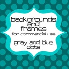 Dots (Blue and Gray) Backgrounds and Frames for Commercial Use
