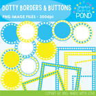 Dotty Borders & Badges - Blue & Yellow - Graphics From the Pond