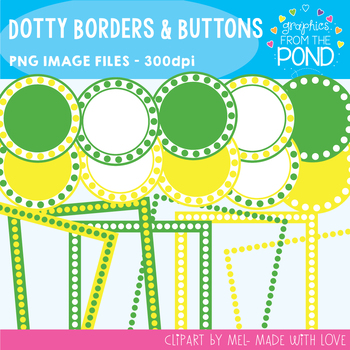 Dotty Borders & Badges - Lemon and Lime Set