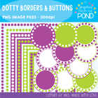 Dotty Borders & Badges - Purple & Green