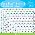 Dotty Jump Heart Borders / Frames - Graphics From the Pond