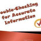 Double Checking for Accurate Information Reading Strategy