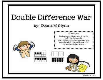Double Difference War Math Center/ten frames