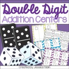 Double Digit Addition Centers Pack