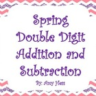 Double Digit Addition and Subtraction Spring Pack