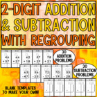 Double Digit Addition and Subtraction with Regrouping Worksheets