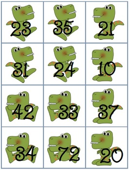 Double-Digit Dino (Finding a missing addend)