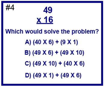 Double Digit Multiplication Test Prep Worksheet Distributi