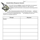 Double-Entry Response Journal
