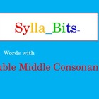 Double Middle Consonants SyllaBits Fluency Building Syllab