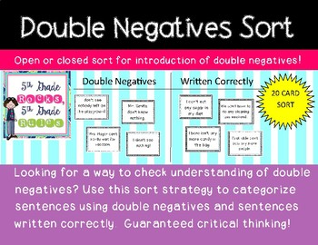 Double Negatives Sort