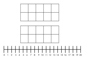 Double Ten Frame + Number Line Mat
