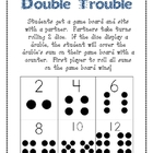 Double Trouble Addition Partner Game