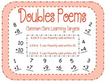 Doubles Addition Facts Poems