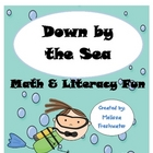 Down By The Sea Math and Literacy Fun