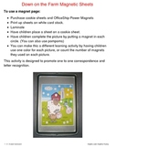 Down on the Farm Magnet Sheets