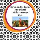 Down on the Farm Preschool Multi-Sensory Unit (6 Lessons)