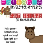 Newsletter Templates: Down on the Farm Theme