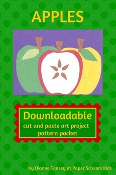 Downloadable Apples Cut and Paste Art Activity for Bulleti